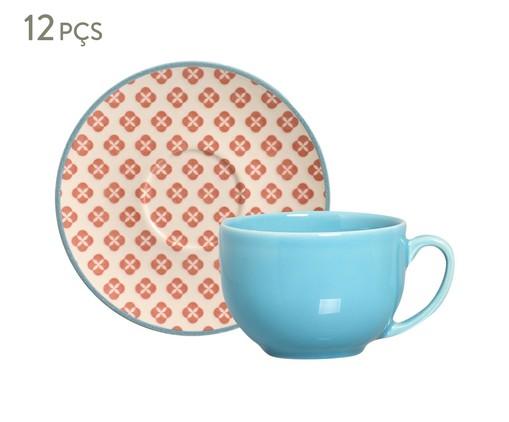 Jogo de Xícaras para Chá com Pires Coup Cerejeira, Azul,Vermelho | WestwingNow