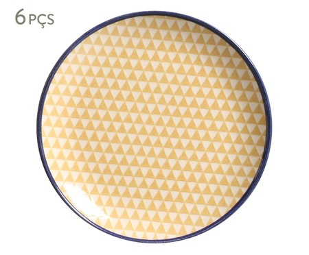 Jogo de Pratos para Sobremesa Coup Triângulo - Amarelo | WestwingNow