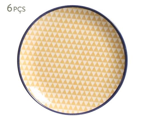 Jogo de Pratos para Sobremesa Coup Triângulo - 06 Pessoas, Amarelo   WestwingNow