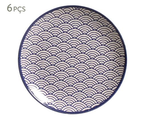 Jogo de Pratos para Sobremesa Coup Wave - Azul, multicolor   WestwingNow