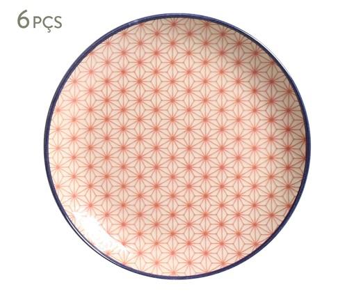 Jogo de Pratos para Sobremesa Coup Caleidoscópio - 06 Pessoas, Rosa,Azul | WestwingNow