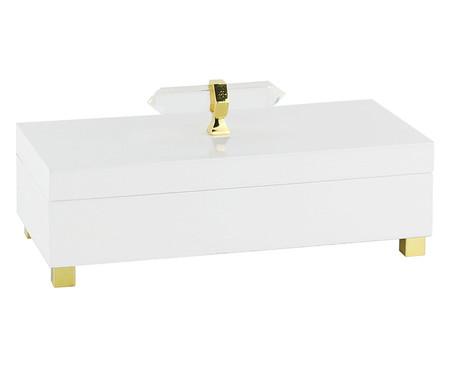 Caixa Decorativa de Madeira Agnès - Branca e Dourada | WestwingNow