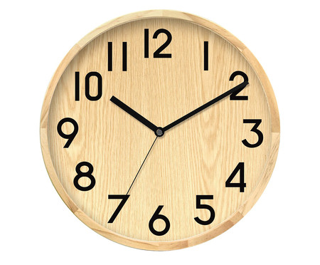 Relógio de Parede Madeira Jo - Marrom e Preto | WestwingNow