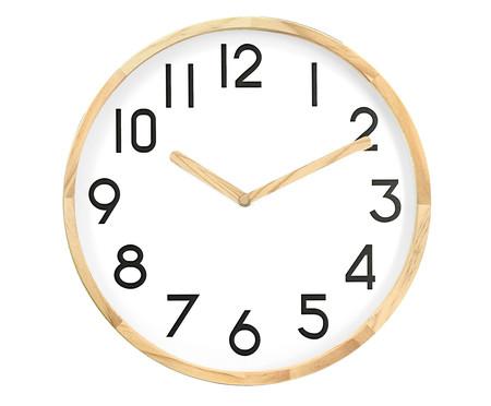 Relógio de Parede em Madeira Anne - Branco | WestwingNow