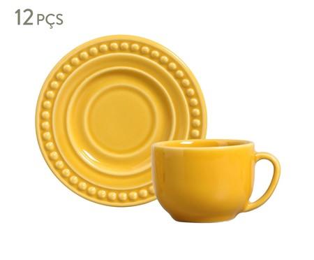 Jogo de Xícaras para Chá em Cerâmica Atenas 06 Pessoas - Mostarda | WestwingNow