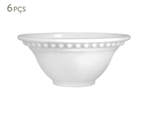 Jogo de Bowls em Cerâmica Atenas Branco - 06 Pessoas, Branco | WestwingNow