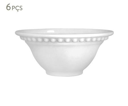 Jogo de Bowls em Cerâmica Atenas Branco - 06 Pessoas | WestwingNow