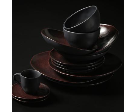 Jogo de Xícaras e Pires para Café em Cerâmica Orgânico - Volcano   WestwingNow