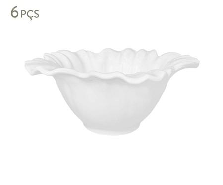Jogo de Bowls em Cerâmica Campestre Branco - 06 Pessoas | WestwingNow
