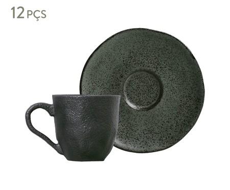 Jogo de Xícaras e Pires para Café em Cerâmica Orgânico Ash - 06 Pessoas | WestwingNow