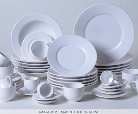 Jogo de Pratos para Sobremesa em Cerâmica Mônaco 06 Pessoas - Branco | WestwingNow