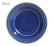 Jogo de Pratos para Sobremesa Atenas Azul Navy - 06 Pessoas | WestwingNow