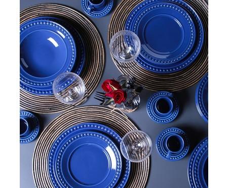Jogo de Pratos para Sobremesa em Cerâmica Atenas Azul -06 Pessoas | WestwingNow