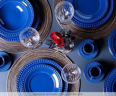 Jogo de Pratos Rasos em Cerâmica Atenas - Azul | WestwingNow