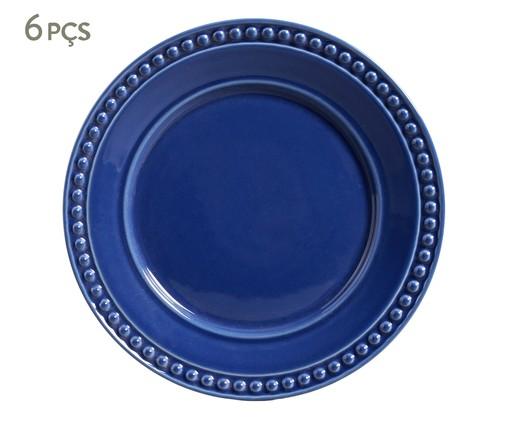 Jogo de Pratos Rasos em Cerâmica Atenas 06 Pessoas Porto Brasil - Azul, Azul | WestwingNow