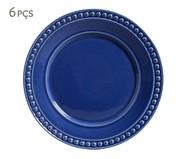Jogo de Pratos Rasos em Cerâmica Atenas 06 Pessoas Porto Brasil - Azul | WestwingNow