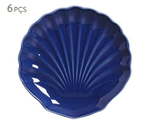 Jogo de Pratos para Sobremesa em Cerâmica Ocean 06 Pessoas - Azul, Azul | WestwingNow