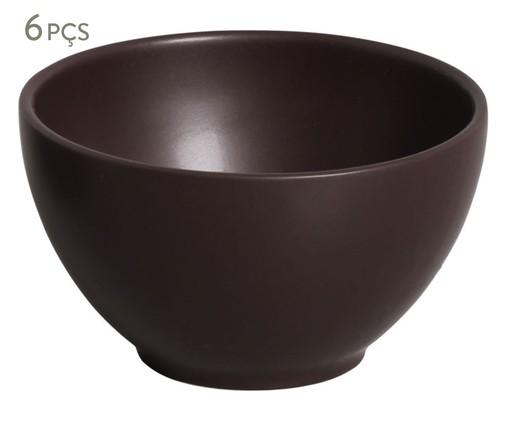 Jogo de Bowls em Cerâmica Coup Stoneware Oak - 06 Pessoas, Preto   WestwingNow