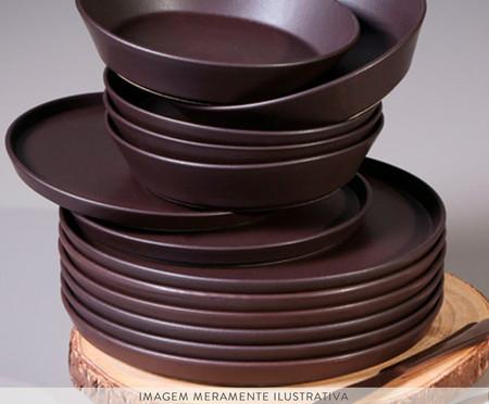 Jogo de Pratos para Sobremesa em Cerâmica Neo Oak - 06 Pessoas | WestwingNow