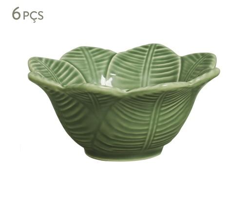 Jogo de Bowls em Cerâmica Leaves 06 Pessoas - Verde, Verde | WestwingNow