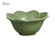 Jogo de Bowls em Cerâmica Leaves Verde - 06 Pessoas | WestwingNow