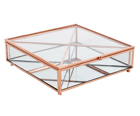 Porta-Objetos de Vidro Ben - Transparente e Rosé | WestwingNow