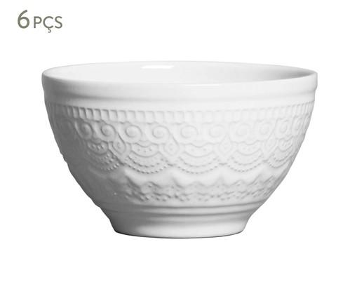 Jogo de Bowls em Cerâmica Agra 06 Pessoas - Branco, Branco | WestwingNow