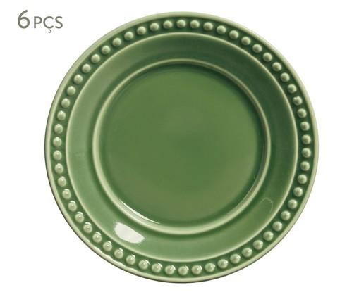 Jogo de Pratos para Sobremesa em Cerâmica Atenas - Verde Sálvia, Verde   WestwingNow