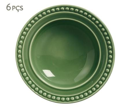 Jogo de Pratos Fundos em Cerâmica Atenas - Verde Sálvia | WestwingNow