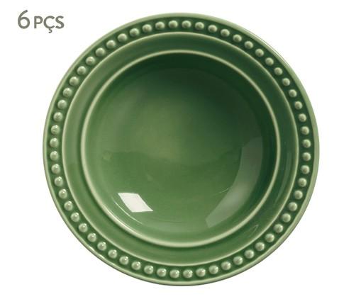 Jogo de Pratos Fundos em Cerâmica Atenas 06 Pessoas - Verde, Verde | WestwingNow