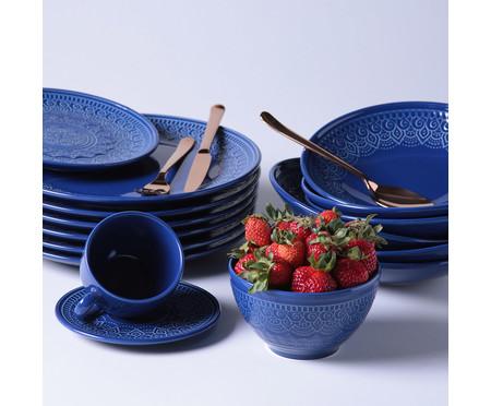 Jogo de Bowls em Cerâmica Agra  Azul Navy - 06 Pessoas | WestwingNow