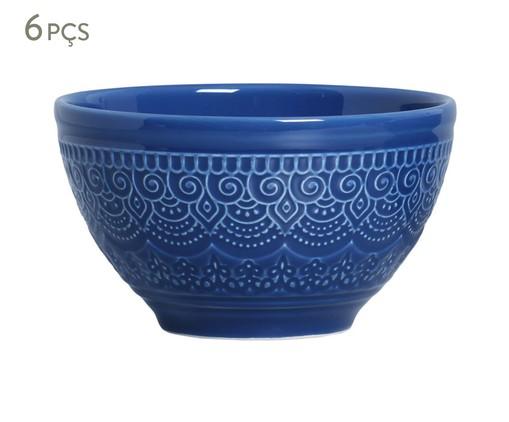 Jogo de Bowls em Cerâmica Agra 06 Pessoas - Azul Navy, Azul | WestwingNow