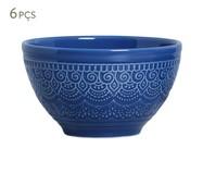 Jogo de Bowls em Cerâmica Agra 06 Pessoas - Azul Navy | WestwingNow