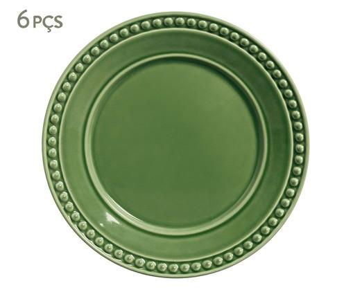 Jogo de Pratos Rasos em Cerâmica Atenas - Verde Sálvia, Verde   WestwingNow