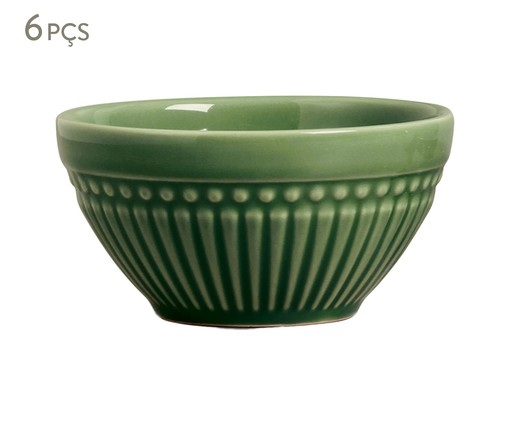 Jogo de Bowls em Cerâmica Roma Verde Sálvia - 06 Pessoas, Verde | WestwingNow