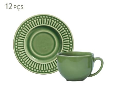 Jogo de Xícaras para Chá em Cerâmica Roma - Verde Sálvia | WestwingNow