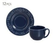 Jogo de Xícaras para Chá em Cerâmica Acanthus - Azul   WestwingNow