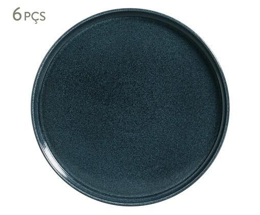 Jogo de Pratos Rasos em Cerâmica Neo 06 Pessoas Porto Brasil - Azul, Azul | WestwingNow