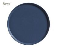 Jogo de Pratos para Sobremesa em Cerâmica Neo Boreal - Azul | WestwingNow