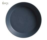Jogo de Pratos Fundos em Cerâmica Neo Boreal 06 Pessoas - Azul | WestwingNow