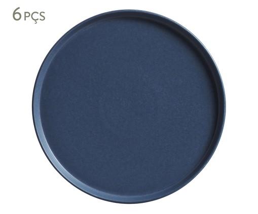 Jogo de Pratos Rasos em Cerâmica Neo Boreal - Azul, Azul | WestwingNow