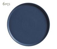 Jogo de Pratos Rasos em Cerâmica Neo Boreal - Azul | WestwingNow