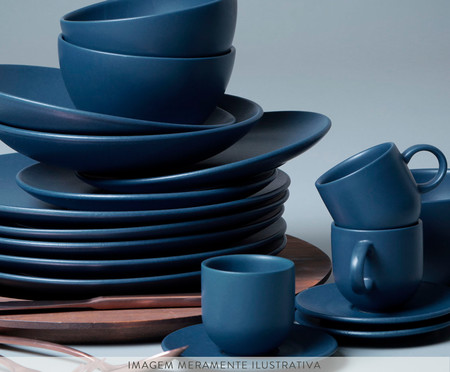 Jogo de Xícaras para Café em Cerâmica Stoneware Boreal - Azul   WestwingNow