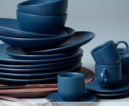 Jogo de Bowls em Cerâmica Stoneware Boreal - Azul | WestwingNow
