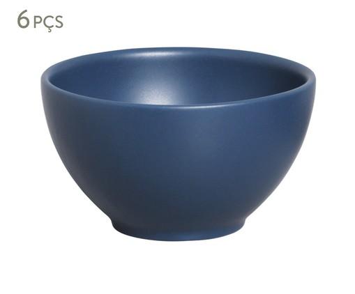 Jogo de Bowls em Cerâmica Coup Stoneware Boreal - 06 Pessoas, Azul | WestwingNow