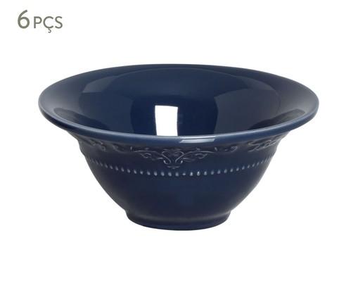 Jogo de Bowls em Cerâmica Acanthus Deep Blue - 06 Pessoas, Azul | WestwingNow