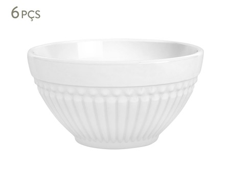 Jogo de Bowls em Cerâmica Roma Branco - 06 Pessoas | WestwingNow