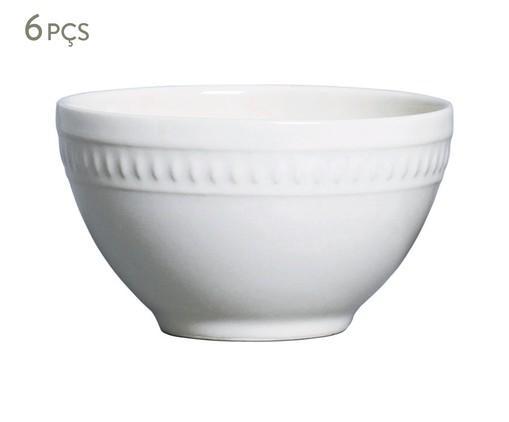Jogo de Bowls em Cerâmica Sevilha Branco - 06 Pessoas, Branco | WestwingNow