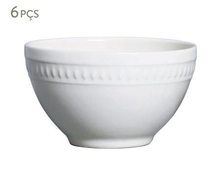 Jogo de Bowls em Cerâmica Sevilha Branco - 06 Pessoas | WestwingNow