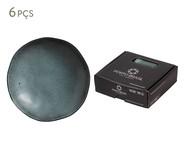 Jogo de Pratos Fundos em Cerâmica Orgânico 06 Pessoas - Petroleum | WestwingNow